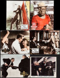 """Movie Posters:James Bond, Goldfinger & Others Lot (United Artists, 1965). British Front of House Color Photo (8"""" X 10"""") & German Lobby Cards (5) (9"""" X... (Total: 6 Items)"""