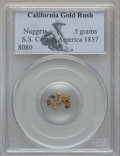 Nuggets, 1857 S.S. Central America, California Gold Rush Nuggets, PCGS. (.5 Grams)...