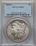Morgan Dollars: , 1898-S $1 MS62 PCGS. PCGS Population: (676/3021). NGC Census: (475/1382). Mintage 4,102,000. ...