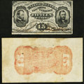 Fractional Currency:Third Issue, Fr. 1274SP/1273-76SP 15¢ Third Issue Narrow Face and Wide Back Pair.. ... (Total: 2 notes)