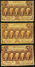 Fractional Currency:First Issue, 25¢ First Issue.. ... (Total: 3 notes)