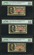 Fractional Currency:Fifth Issue, Fr. 1381 50¢ Fifth Issue Three Examples. . ... (Total: 3 notes)