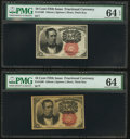 Fractional Currency:Fifth Issue, Fr. 1266 10¢ Fifth Issue Two Examples. . ... (Total: 2 notes)