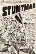 Original Comic Art:Splash Pages, Jack Kirby and Joe Simon Stuntman #2 Splash Page 1 OriginalArt (Harvey, 1946)....