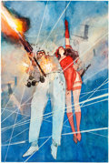 Original Comic Art:Splash Pages, Bill Sienkiewicz Elektra: Assassin #8 Splash Page 17Original Art (Marvel, 1987)....