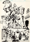 "Original Comic Art:Covers, Paul Gulacy Marvel Classics Comics #26 ""The Iliad"" CoverInterior Original Art (Marvel, 1977)...."