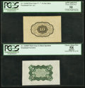 Fractional Currency:First Issue, Fr. 1243SP 10¢ First Issue Wide Margin Back PCGS Apparent Choice About New 58.. Fr. 1238SP 5¢ Third Issue Wide Margin Back PCG... (Total: 2 notes)