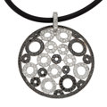 Estate Jewelry:Necklaces, Colored Diamond, Diamond, White Gold Pendant-Necklace, Eli Frei....
