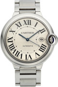 Estate Jewelry:Watches, Cartier Unisex Ballon Bleu Stainless Steel Watch. ...