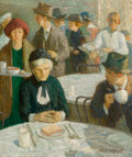 Fine Art - Painting, American:Modern  (1900 1949)  , Starr Gephart (American, 20th Century). Cafeteria. Oil oncanvas. 26 x 22 inches (66 x 55.9 cm). Signed lower right:S...