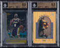Basketball Cards:Lots, 1996-97 Kobe Bryant Beckett Gem Mint 9.5 Graded Rookie Pair -Bowman's Best & UD3....