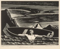 Fine Art - Work on Paper:Print, Rockwell Kent (American, 1882-1971). Deep Water, 1931. Woodengraving. 5-3/8 x 6-7/8 inches (13.7 x 17.5 cm) (image). Ed...