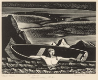 Rockwell Kent (American, 1882-1971) Deep Water, 1931 Wood engraving 5-3/8 x 6-7/8 inches (13.7 x