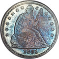Seated Dollars, 1851 $1 MS64 NGC. OC-1, Low R.5....