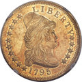 Early Eagles, 1795 $10 13 Leaves, BD-1, High R.3, MS62+ NGC. CAC....