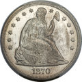 Seated Dollars, 1870 $1 MS66 PCGS Secure. OC-5, Low R.3....