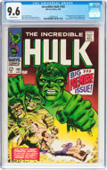 Silver Age (1956-1969):Superhero, The Incredible Hulk #102 (Marvel, 1968) CGC NM+ 9.6 Off-white pages....
