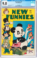 Golden Age (1938-1955):Funny Animal, New Funnies #76 (Dell, 1943) CGC VF/NM 9.0 Off-white to whitepages....