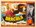 "Movie Posters:Horror, Dracula (Realart, R-1951). Half Sheet (22"" X 28"").. ..."