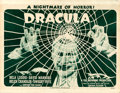 "Movie Posters:Horror, Dracula (Universal, R-1947). Half Sheet (21.75"" X 28"").. ..."