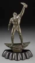 Bronze:American, Albert W. Wein (American, 1915-1991). Prometheus, 1946.Bronze with green patina. 12-1/8 inches (30.8 cm) high on a 1-1/...