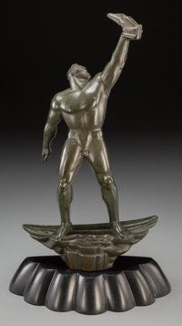 Albert W. Wein (American, 1915-1991) Prometheus, 1946 Bronze with green patina 12-1/8 inches (30
