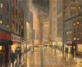 Fine Art - Painting, American:Modern  (1900 1949)  , Richard Whorf (American, 1906-1966). Chicago Jazz Districtand General Store (double-sided work). Oil and gouache on...