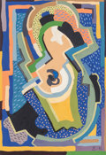 Impressionism & Modernism:Cubism, Evie Hone (British, 1894-1955). Untitled (AbstractComposition), 1937. Gouache on paper. 10-5/8 x 7-3/4 inches (27x 19....