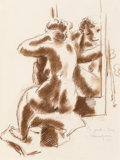 Fine Art - Work on Paper:Drawing, Chaim Gross (American, 1904-2004). Seated Nude, 1930. Crayonon paper. 15 x 11 inches (38.1 x 27.9 cm) (sight). Signed t...