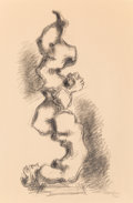 Fine Art - Work on Paper:Drawing, Chaim Gross (American, 1904-2004). Two Acrobats. Pencil onpaper. 16 x 10-1/4 inches (40.6 x 26 cm) (sight). Signed lowe...
