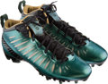 Football Collectibles:Others, 2012 Charles Woodson Game Worn Green Bay Packers Jordan Brand Special Edition Cleats....