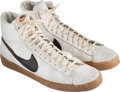 "Basketball Collectibles:Others, 1978 George ""Iceman"" Gervin Game Worn Sneakers from Sixty-ThreePoint Game. ..."