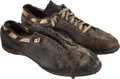 Football Collectibles:Others, Circa 1967 Ray Nitschke Game Worn Green Bay Packers Cleats from the Nitschke Estate....