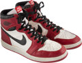 Basketball Collectibles:Others, 1985-86 Michael Jordan Game Worn & Vintage Signed Air Jordan I Sneakers....