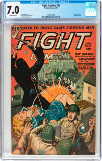 Fight Comics #32 (Fiction House, 1944) CGC FN/VF 7.0 Off-white pages