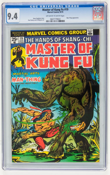 Master of Kung Fu #19 (Marvel, 1974) CGC NM 9 4 Off-white to white pages