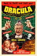 "Movie Posters:Horror, Dracula (Realart, R-1951). One Sheet (27"" X 41"").. ..."