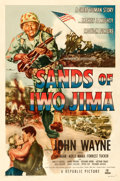 "Movie Posters:War, Sands of Iwo Jima (Republic, 1950). One Sheet (27"" X 41""). StyleB.. ..."