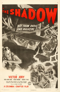 "The Shadow (Columbia, R-1947). One Sheet (27"" X 41"")"
