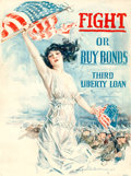 "Movie Posters:War, World War I Propaganda by Howard Chandler Christie (Forbes, 1917). Poster (30"" X 40"") ""Fight or Buy Bonds."". ..."