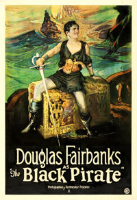 "The Black Pirate (United Artists, 1926). One Sheet (27"" X 41"")"