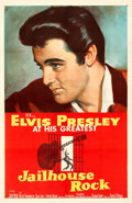"Movie Posters:Elvis Presley, Jailhouse Rock (MGM, 1957). One Sheet (27"" X 41"") Bradshaw Crandell Artwork.. ..."