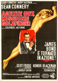 "Movie Posters:James Bond, Goldfinger (United Artists, 1964). Italian 4 - Fogli (55.25"" X 77.25"").. ..."