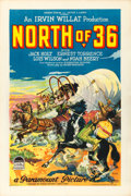 "Movie Posters:Western, North of 36 (Paramount, 1924). One Sheet (27"" X 41"") Style B,Joseph Fronder Artwork.. ..."