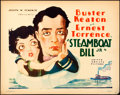 "Movie Posters:Comedy, Steamboat Bill, Jr. (United Artists, 1928). Title Lobby Card (11"" X14"") Hap Hadley Artwork.. ..."