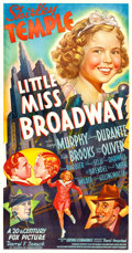 "Movie Posters:Musical, Little Miss Broadway (20th Century Fox, 1938). Three Sheet (41"" X81"") Style B.. ..."
