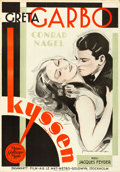 "Movie Posters:Drama, The Kiss (MGM, 1929). Swedish One Sheet (27.5"" X 39.5"") Art byRohman.. ..."