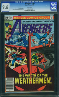 The Avengers #210 (Marvel, 1981) CGC NM+ 9.6 White pages
