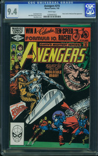 The Avengers #215 (Marvel, 1982) CGC NM 9.4 White pages