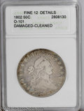 Early Half Dollars: , 1802 50C --Cleaned, Damaged--ANACS. Fine 12 Details. O-101. PCGSPopulation (6/93). NGC Census: (7/3759). Mintage: 29,890....